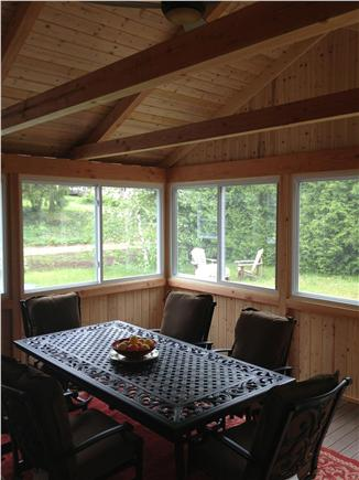 South Harwich Cape Cod vacation rental - Enjoy dinner in our 3-season room