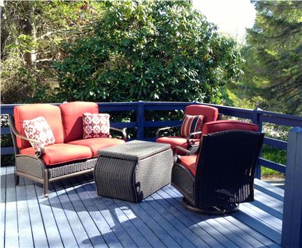 South Harwich Cape Cod vacation rental - Enjoy morning coffee on our sunny front porch