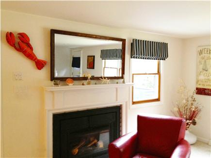 South Harwich Cape Cod vacation rental - Comfortable seating by the gas fireplace