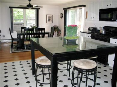 East Falmouth Cape Cod vacation rental - Slate kitchen island & granite dining room table
