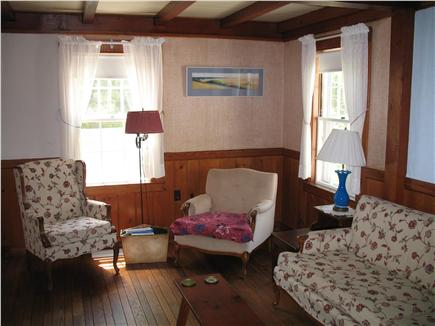 Brewster, north of 6A Cape Cod vacation rental - Living Room, 4 big chairs plus couch