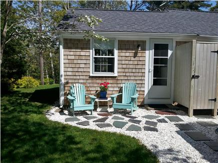 Barnstable Cape Cod vacation rental - Outdoor shower with hot & cold water to rinse off the beach sand.