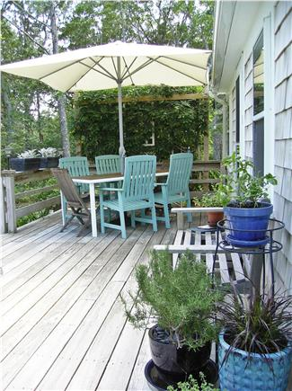 Barnstable Cape Cod vacation rental - Spacious deck for grilling and eating.