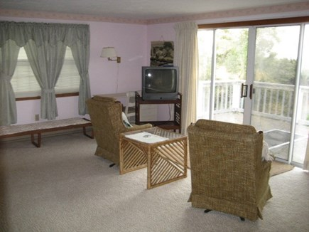 Dennis Cape Cod vacation rental - Master Bedroom with sitting area out to private outdoor deck