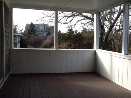 Dennis Cape Cod vacation rental - 8 foot slider to private screened deck for candelight nights !