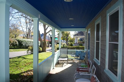 Chatham In Town Cape Cod vacation rental - Quiet front porch, great for breakfast