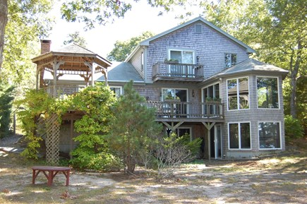 Brewster Cape Cod vacation rental - Back of house, facing Upper Mill Pond