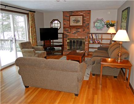 Brewster Cape Cod vacation rental - Living Room with flat-screen TV and slider to deck