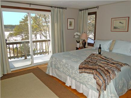 Brewster Cape Cod vacation rental - King Bed Master Bedroom with balcony and full bath
