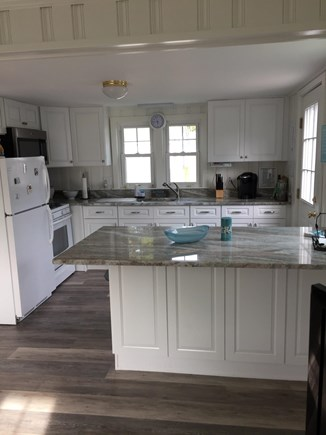 Dennisport Cape Cod vacation rental - All new kitchen- white cabinets, granite, stainless steel micro.