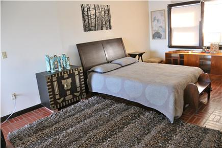 Wellfleet, south of town cente Cape Cod vacation rental - Bedroom #5 (3rd floor) with Queen bed w. sitting area, deck, A/C