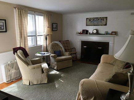 South Dennis Cape Cod vacation rental - Living room with TV