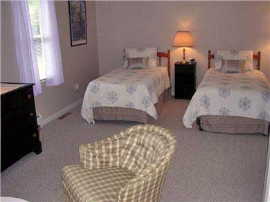 Centerville Centerville vacation rental - Large 1st floor bedroom with twin beds, TV, large closets