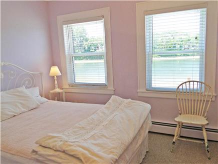 Onset on Water Street Inlet MA vacation rental - 2nd Floor Front Queen Bedroom w/ TV & Lovely Water Views
