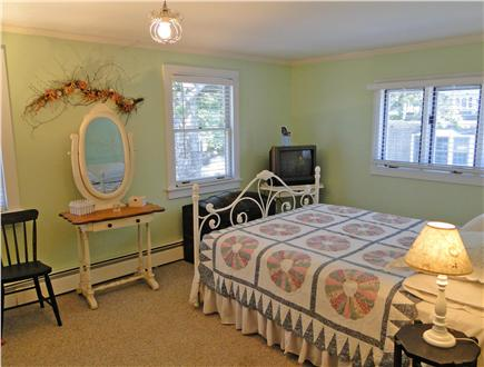 Onset on Water Street Inlet MA vacation rental - 2nd Floor Rear Master Queen Bedroom w/ TV & adjacent Bathroom