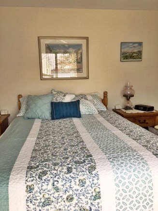 Plymouth MA vacation rental - Master bedroom with slider to deck overlooking the pond