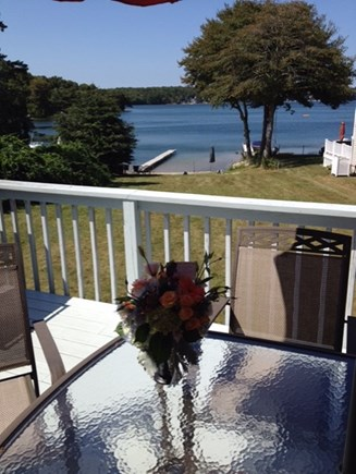 Plymouth MA vacation rental - Deck overlooking the pond