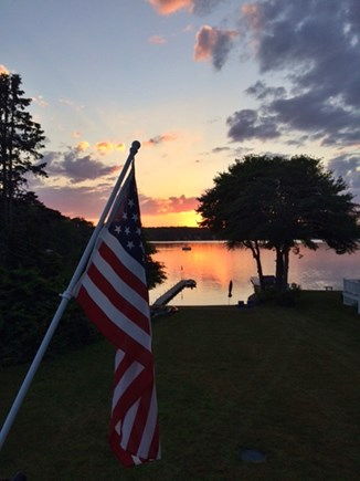 Plymouth MA vacation rental - Sunset over the pond