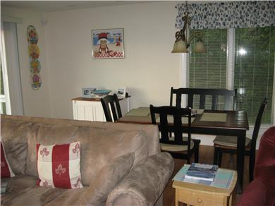 Plymouth MA vacation rental - Spacous DR/LR with sliders to look out to the pond
