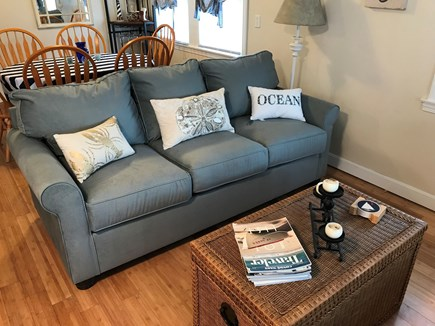 West Dennis Cape Cod vacation rental - Comfortable microfiber couch.