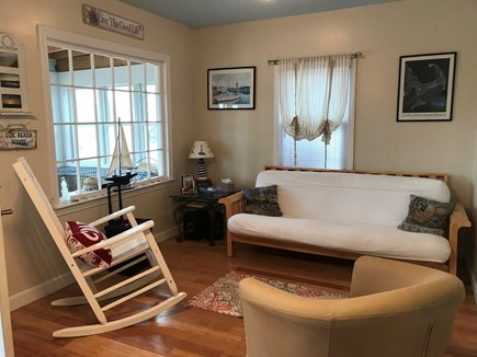 West Dennis Cape Cod vacation rental - Sitting area with futon.
