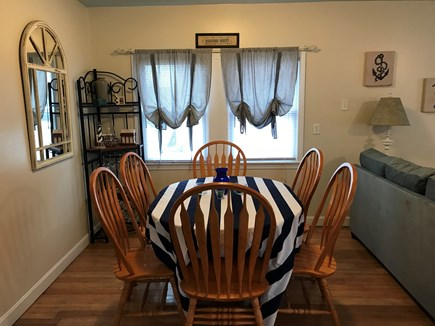 West Dennis Cape Cod vacation rental - Dinning table for six.