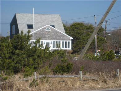 South Yarmouth Cape Cod vacation rental - The house from the beach!