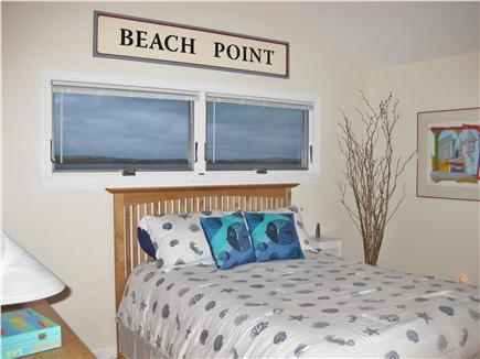 North Truro Cape Cod vacation rental - Queen Bedroom with ceiling fan & views of Lake