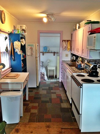 Wellfleet Cape Cod vacation rental - Kitchen and view into small 3rd bedroom