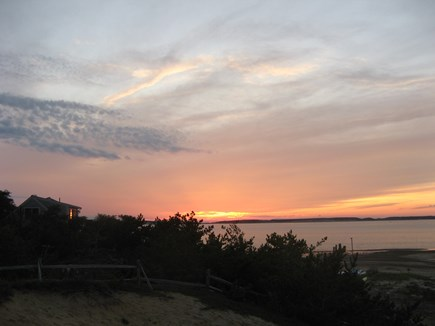 Wellfleet Cape Cod vacation rental - Sunset from top of the bluff