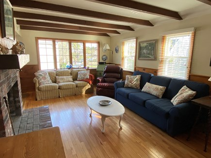 Popponessett / Mashpee Cape Cod vacation rental - Living Room with working fireplace