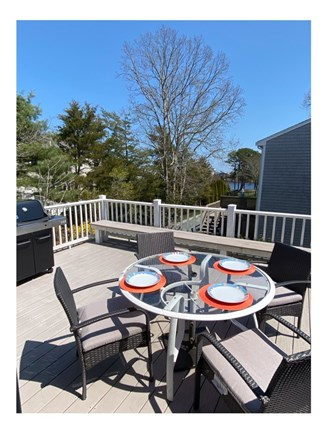 Popponessett / Mashpee Cape Cod vacation rental - Deck with water views and gas grill...HAPPY HOUR!