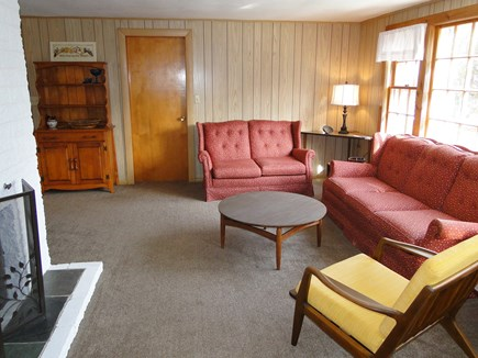 Mashpee Cape Cod vacation rental - View of living room from 2 bedrooms, bathroom