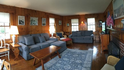 S. Chatham Cape Cod vacation rental - Living room with new couches.