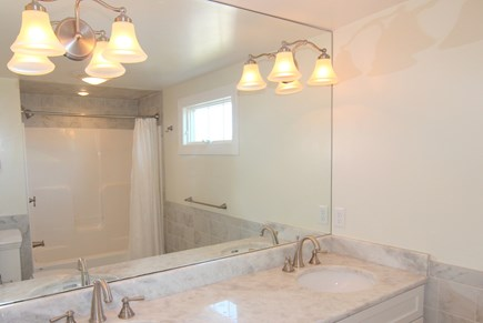 Truro Cape Cod vacation rental - Bathroom With Two Sinks