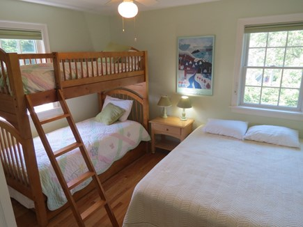 Brewster Cape Cod vacation rental - Newer bunk room also has a trundle under plus a queen