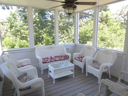 Brewster Cape Cod vacation rental - Screened porch is a perfect spot for Happy Hour enjoyment