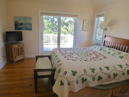Brewster Cape Cod vacation rental - Master King bedroom, second level with walk-out deck