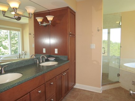 Brewster Cape Cod vacation rental - Master bath is beautiful and luxurious.