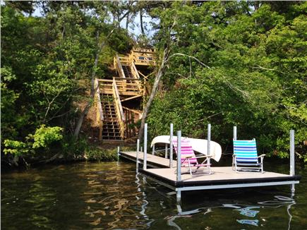 Brewster Cape Cod vacation rental - Private dock with canoe on Seymour Pond