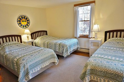 North Eastham Cape Cod vacation rental - First Floor Bedroom with three twin beds