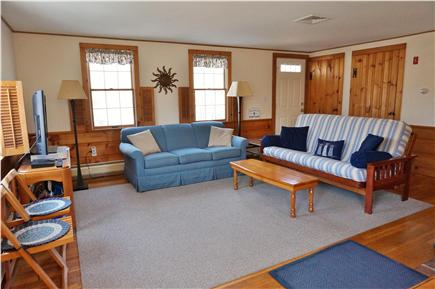 North Eastham Cape Cod vacation rental - Bright Living Room with flat screen TV and Blu-Ray player