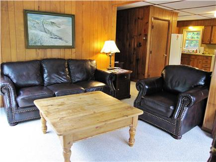 Dennis Cape Cod vacation rental - Sunny living room adjacent to deck