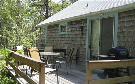 Brewster Cape Cod vacation rental - private deck with  gas grill and outdoor seating for 6