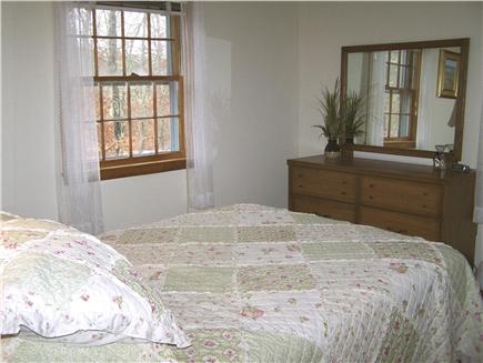 Brewster Cape Cod vacation rental - 1st floor bedroom with hues of the beach  & A/C