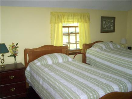 Brewster Cape Cod vacation rental - 2nd upstairs bedroom has its own 1/2 bath  & A/C