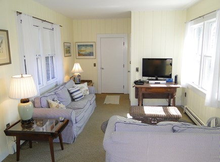 Dennis Cape Cod vacation rental - Spacious sun room with comfy couches and TV