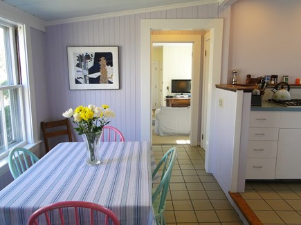 Dennis Cape Cod vacation rental - Kitchen dining area, facing sun room