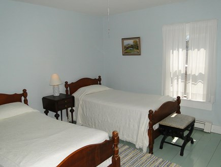 Dennis Cape Cod vacation rental - Blue twin bedroom on main floor