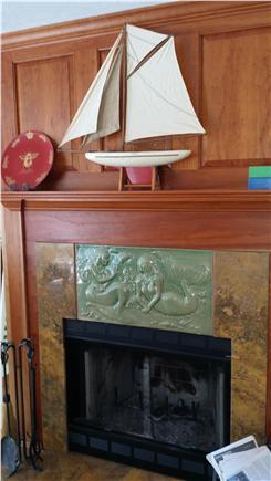Wellfleet Cape Cod vacation rental - Mermaid Fireplace